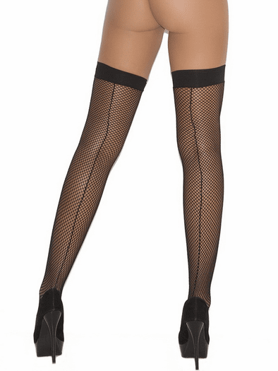 Backseam Fishnet Thigh Highs