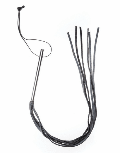 BDSM Leather Whip With Handle