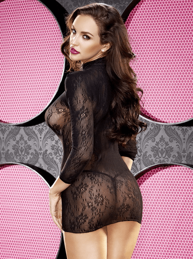 Be Mine Lace Mini Dress