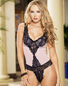 Be My Sweetheart Lace Teddy