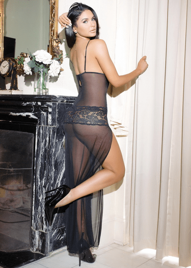 Beautiful Black Sheer Lingerie Gown