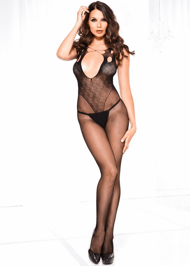 Beautiful Open Front Bodystocking