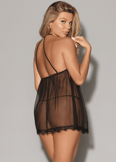 Because Of You Lace Babydoll & G-String Set
