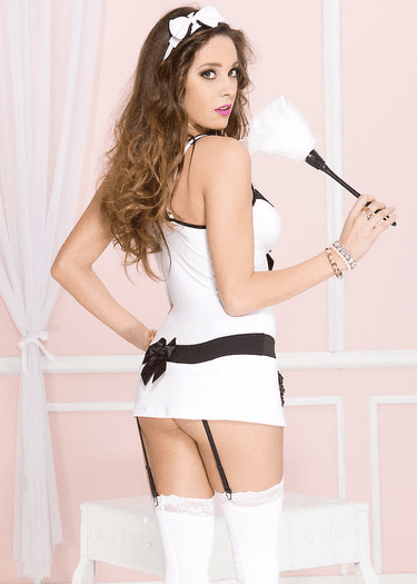 Bedroom French Maid Garter Costume