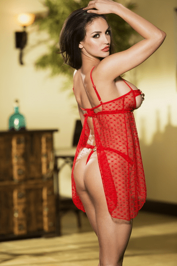 Behind Closed Doors Babydoll & Thong Set