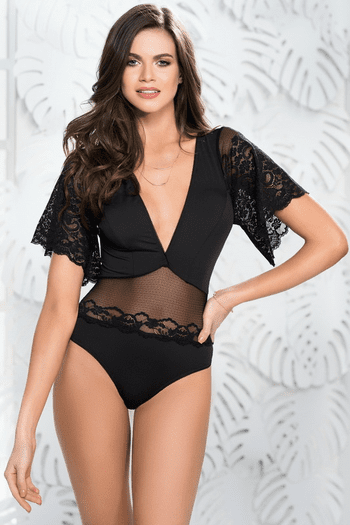 Bell Sleeve Lace Teddy