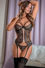 Bewitching Merry Widow Bustier & G-String