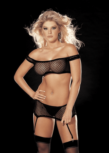 Big Hole Stretch Fishnet Set