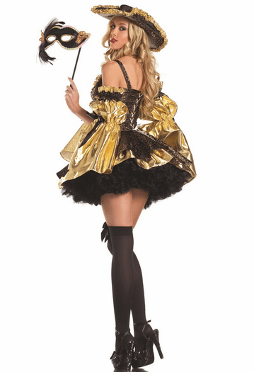 Black Antoinette Sexy 4 PC Costume