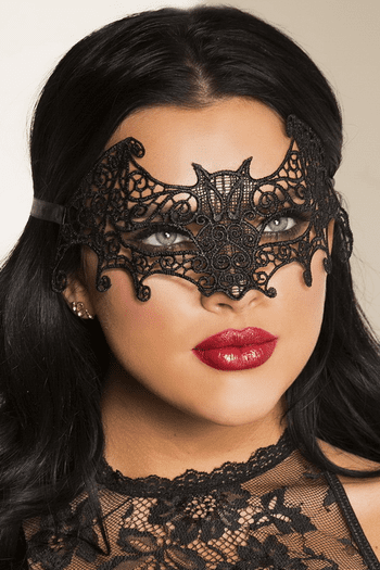 Black Bat Styling Lace Eye Mask