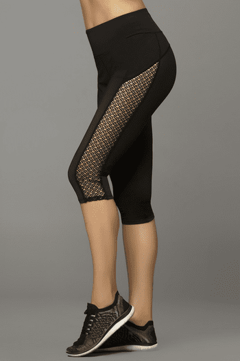 Black Capri Work Out Leggings