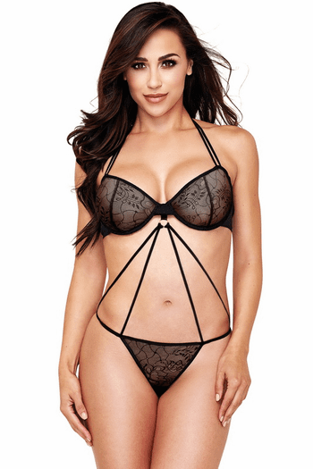 Black Criss Cross Teddy
