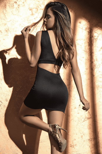 Black Cutout Mini Dress