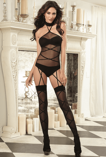 Black Diamond Nympho Nervosa Sexy Bodystocking