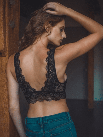 Black Eyelash Lace Bralette