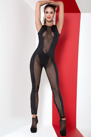 Black Fishnet Jumpsuit