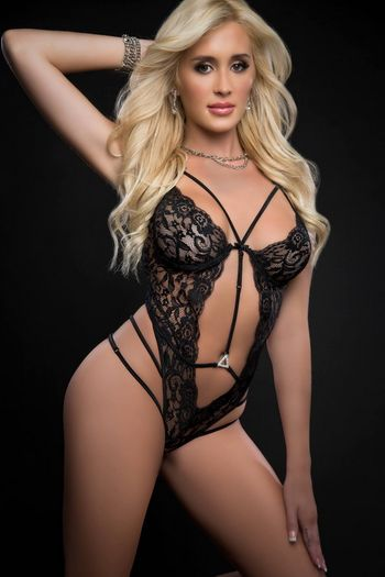 Black Floral Sheer Lace Teddy