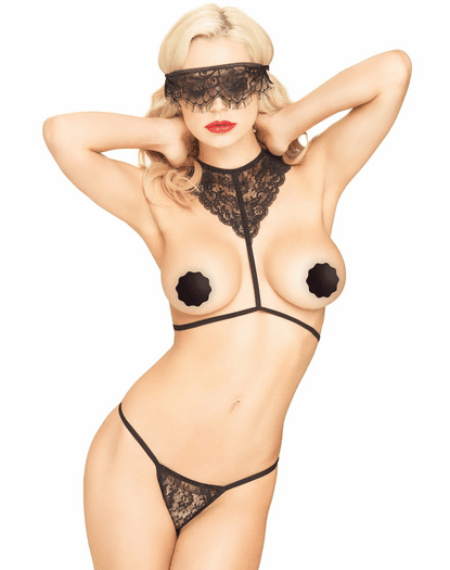 Black Lace Scandal Lingerie Set