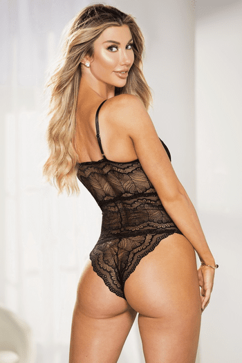 Black Lace Up Teddy