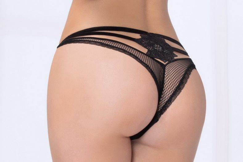 Black Net Cheeky Panty