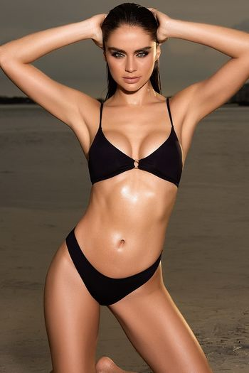 Black O-Ring Bikini Set