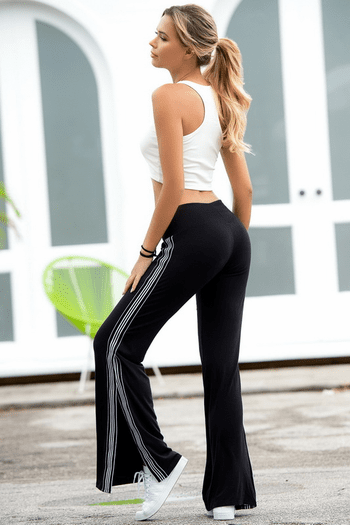 Black Open Legged Pants