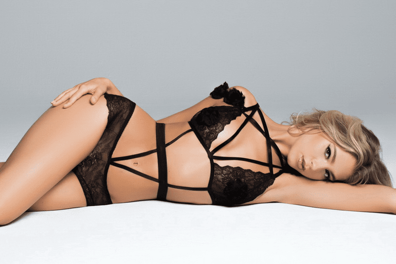 Black Rose Lace Teddy