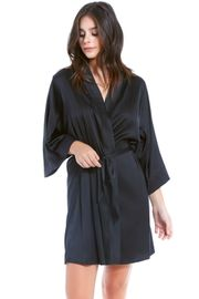 Black Satin & Lace Insert Robe