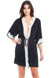 Black Satin & Lace Robe