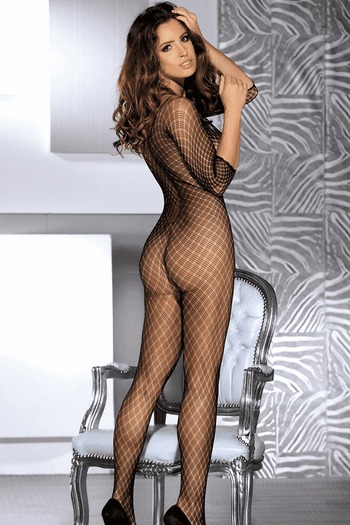 Black Sexy Mesh Crotchless Bodystocking