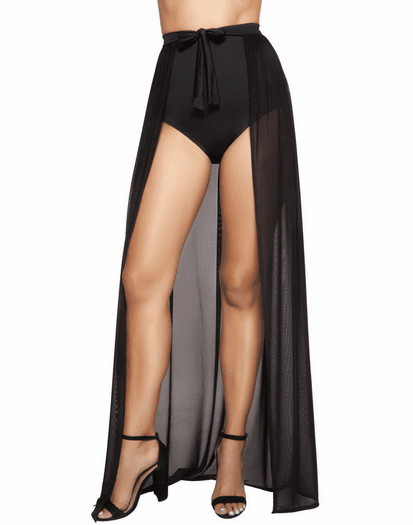 Black Sheer Tie Wrap