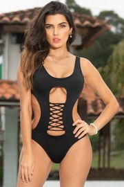 Black Strappy Monokini