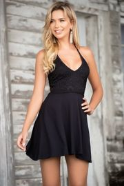 Black Tie Back Summer Dress