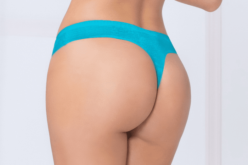 Blue Shadow Stripe Bonded Thong