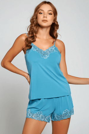 Blue Viscose Nala Cami Sleep Set