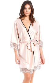 Blush Satin & Lace Robe