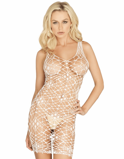 Bordeaux Net Lingerie Dress