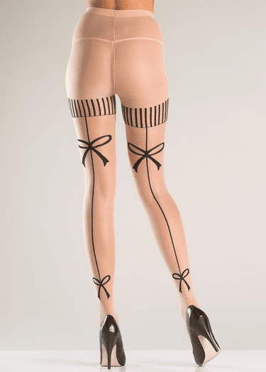 Bow Design Pantyhose
