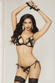 Bow Statement Sexy Bra Set