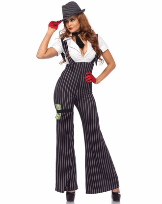 Brass Knuckle Babe Gangster Costume