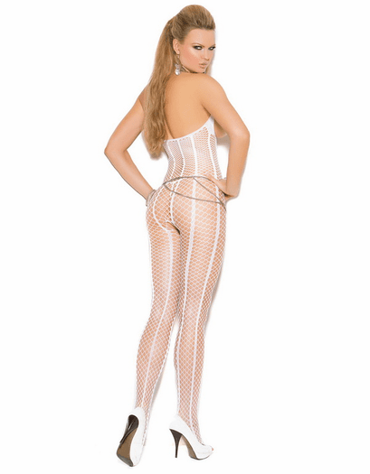 Bridal Open Bust Bodystocking