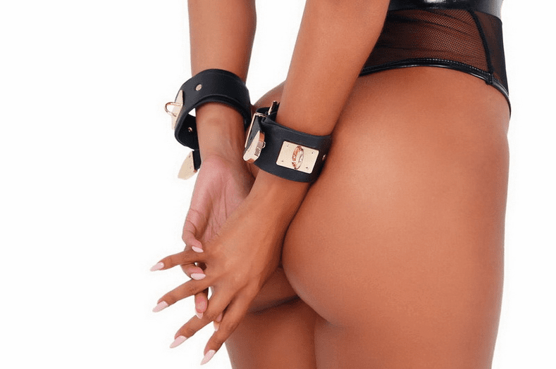 Buckled Leatherette Cuffs