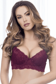 Burgundy Lace Bra
