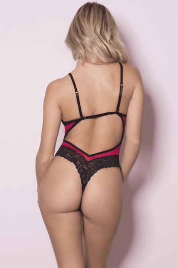 Cage Cup Sheer Teddy