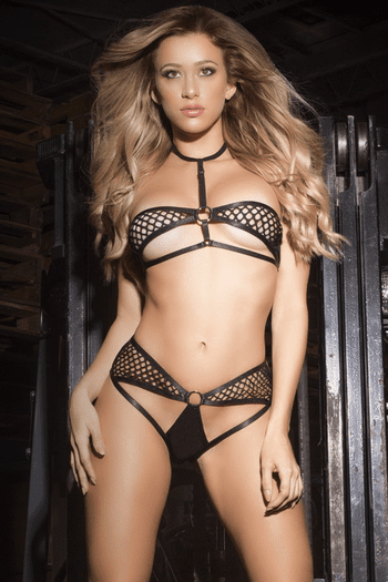 Caged Cut Out Bra Set