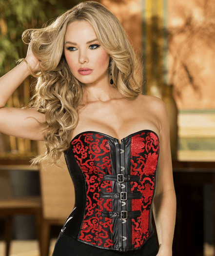 Call Me Anytime Faux Leather Corset