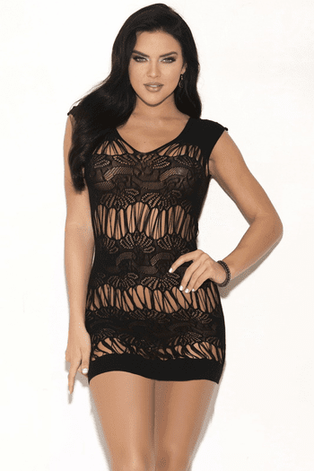 Call Me Over Cut Out Chemise