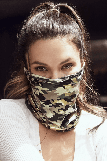 Camouflage Print Tube Scarf