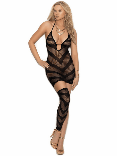 Can't Say No Fishnet Lingerie Dress
