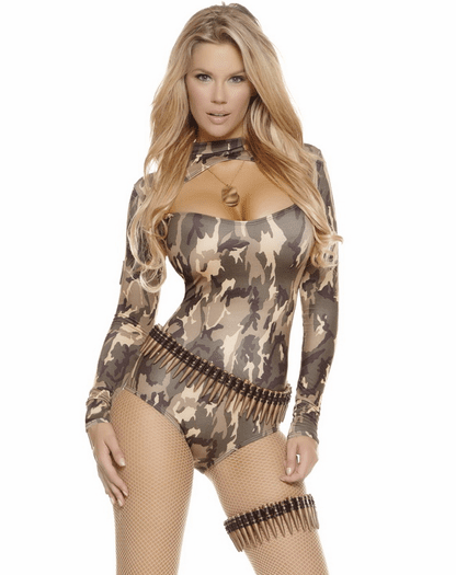 Captivating Camo Sexy Army Costume